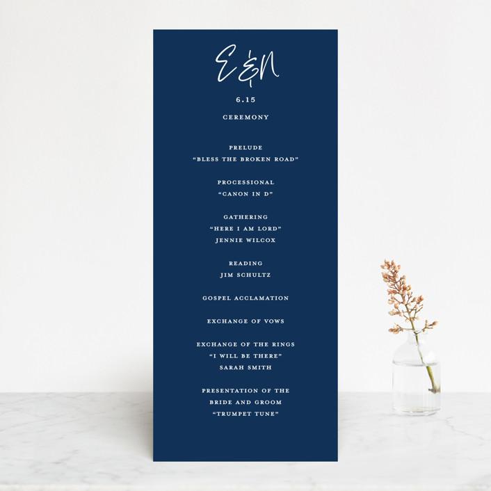 """Semi Formal"" - Wedding Programs in Navy by Paper Dahlia."