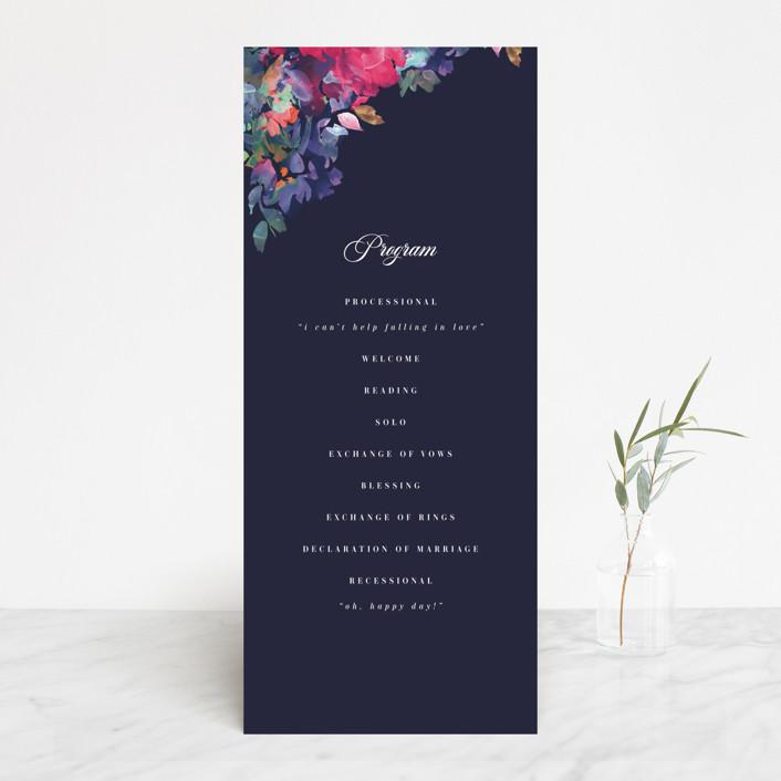 """""""Georgia"""" - Wedding Programs in Navy by Lori Wemple."""