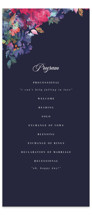 This is a blue unique wedding program by Lori Wemple called Georgia with standard printing on signature in standard.
