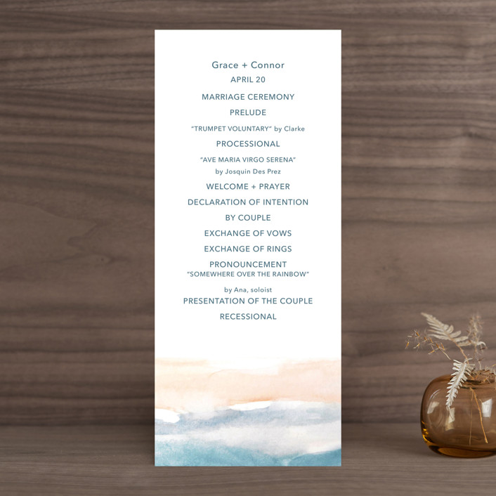 """""""Sea and Sand"""" - Wedding Programs in Cortez by Jenny Partrite."""