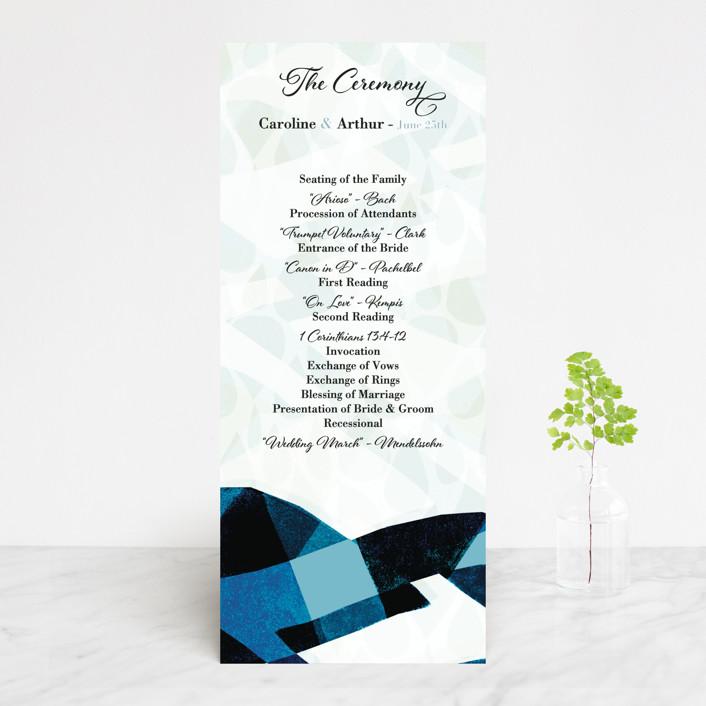 """Drops"" - Wedding Programs in Sea by Bethania Lima."