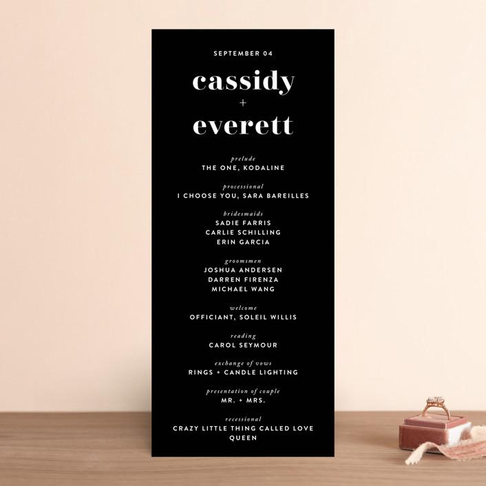 """Key Ingredients"" - Wedding Programs in Cotton by Christie Garcia."