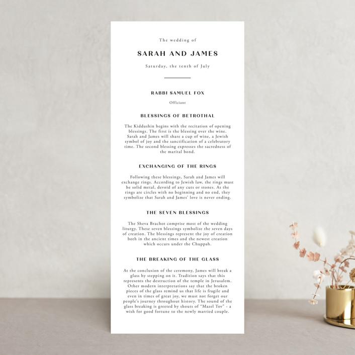 """Arguello"" - Wedding Programs in Diamond by Annie Shapiro."