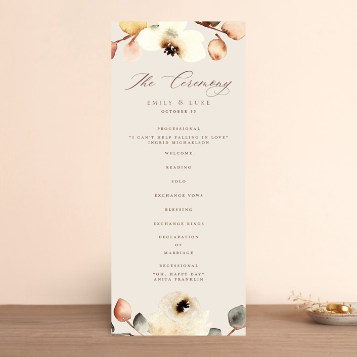"""Bella Mia"" - Wedding Programs in Autumn by Petra Kern."