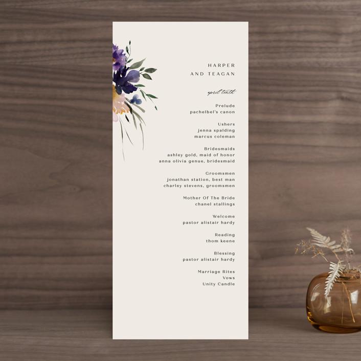 """ivi"" - Wedding Programs in Ivory by Lori Wemple."
