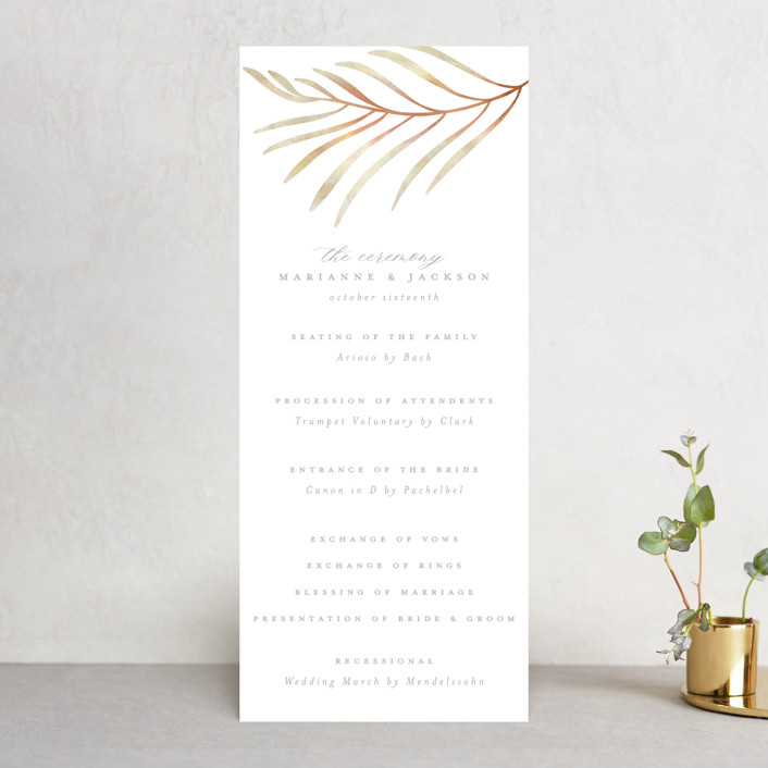 """""""In The Fall"""" - Wedding Programs in Slate by Ashlee Townsend."""