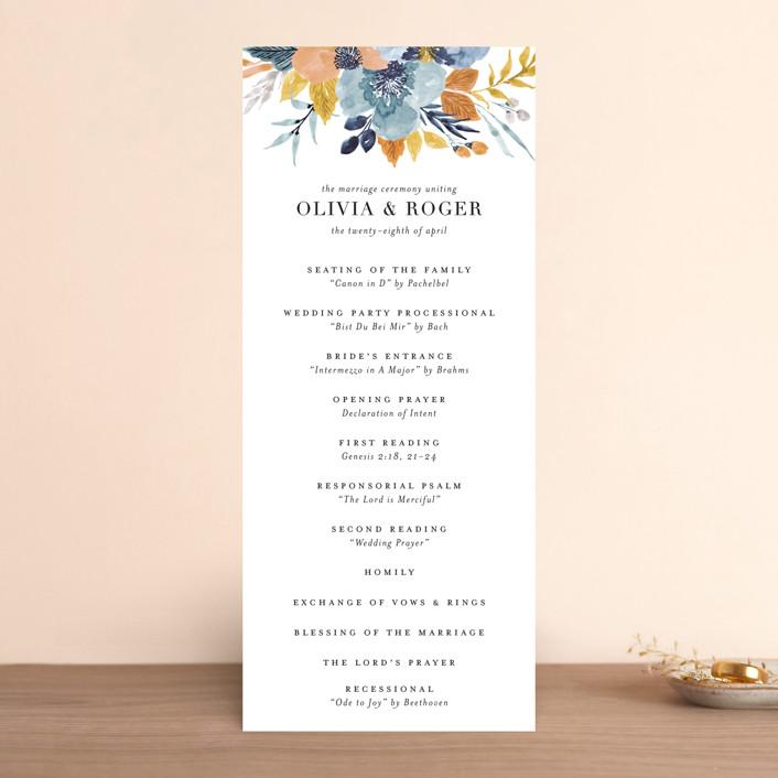"""Daydream"" - Wedding Programs in Honey by Beth Schneider."