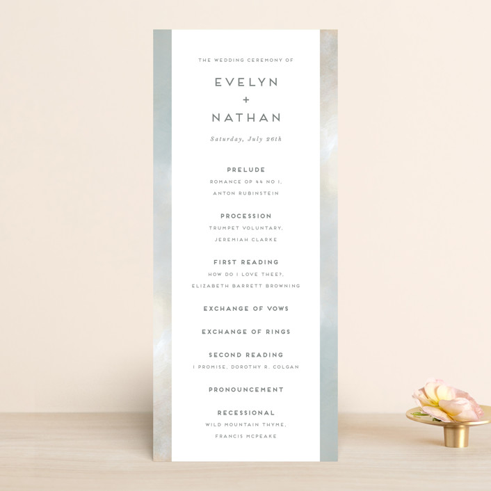 """Grounded in Love"" - Wedding Programs in Porcelain by Nicole Walsh."