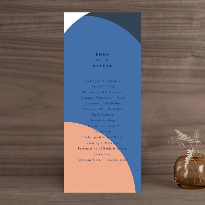 """Color Arch"" - Modern Wedding Programs in Aquatic by Baumbirdy."