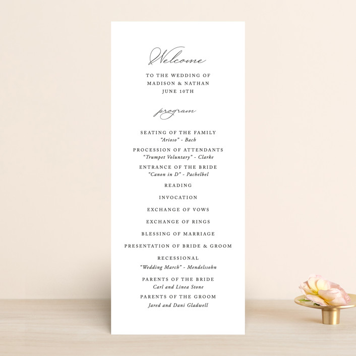 """""""Organza"""" - Wedding Programs in Linen by Jill Means."""