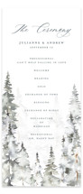 This is a grey unique wedding program by Petra Kern called Grand Escape with standard printing on signature in standard.