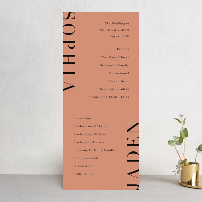"""Magazine Serif"" - Wedding Programs in Sand Dunes by Elly."