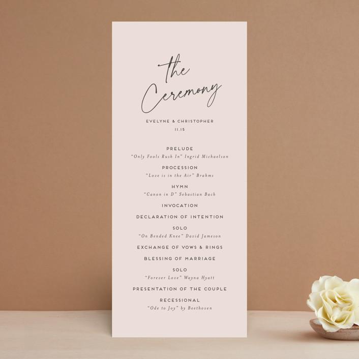 """""""hazelnut"""" - Wedding Programs in Fawn by chocomocacino."""