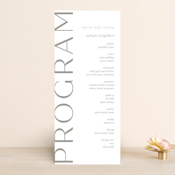 """""""Frame"""" - Wedding Programs in Granite by Lori Wemple."""