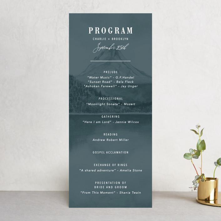 """High"" - Rustic Wedding Programs in Agate by Yuliya Evseeva."