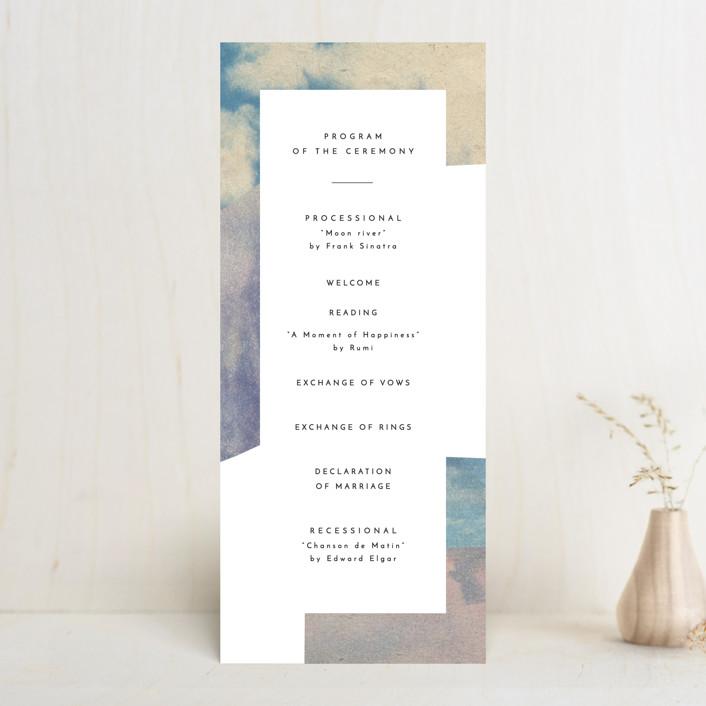 """sky poetry"" - Modern Wedding Programs in Daylight by Sumak Studio."