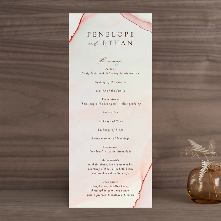 """opalescent"" - Wedding Programs in Chalcedony by Erin Deegan."