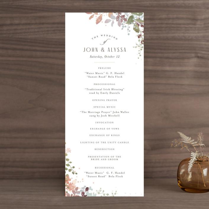 """""""Wesleyan Hill"""" - Wedding Programs in Wildflower by Jennifer Wick."""