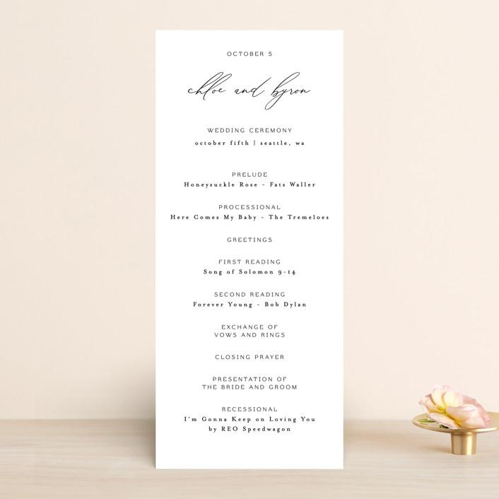 """""""chloe """" - Wedding Programs in Silk by Kelly Schmidt."""