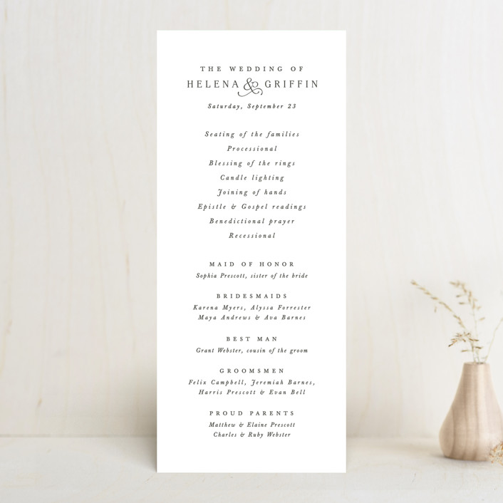 """""""And here we are"""" - Wedding Programs in Marble by Lea Delaveris."""