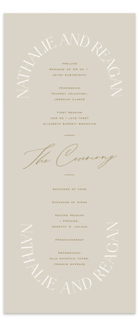 Oval Wedding Programs