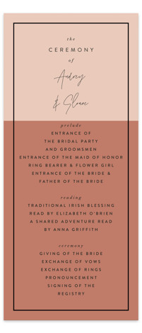 Script Wedding Programs