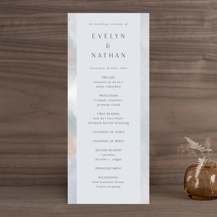 """Evelyn"" - Wedding Programs in Capri by Nicole Walsh."