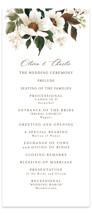 This is a beige unique wedding program by Chris Griffith called A Garden Wedding with standard printing on signature in standard.