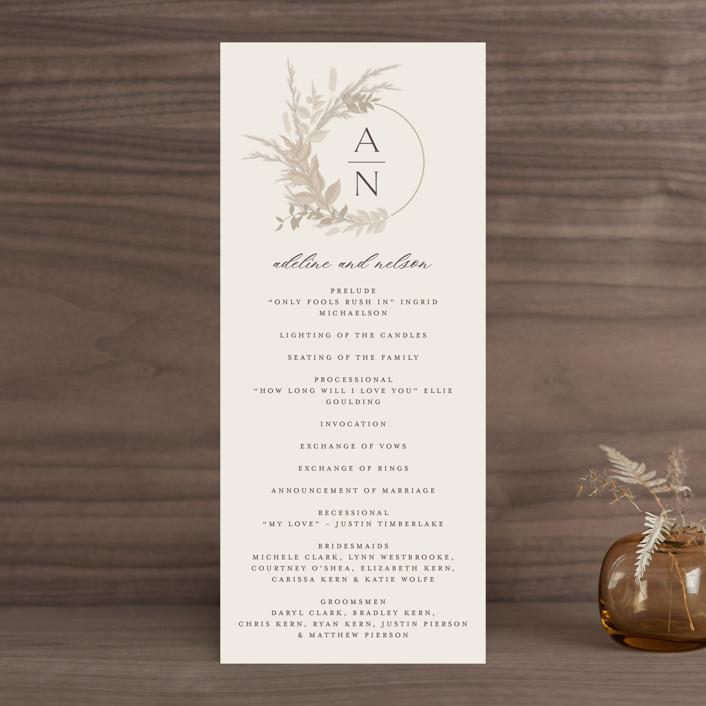 """Preserved Fall Botanicals"" - Bohemian Wedding Programs in Linen by Erin Deegan."