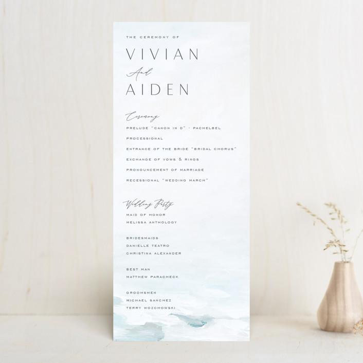"""At Sea"" - Wedding Programs in Sky by Nicoletta Savod."