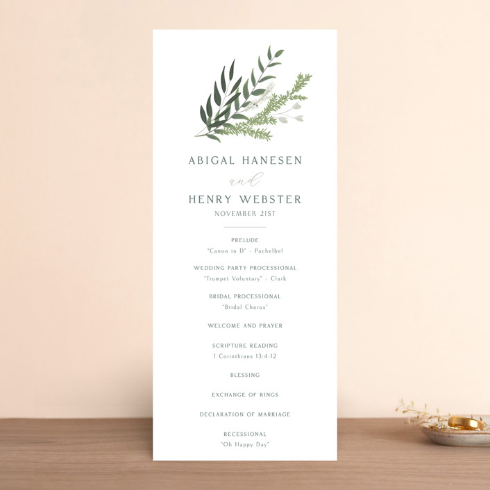 """""""Collection"""" - Wedding Programs in Blanco by Kaydi Bishop."""