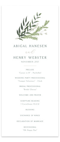 Collection Wedding Programs