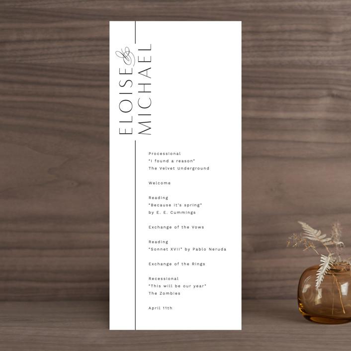 """Of Note"" - Wedding Programs in Pearl by Olivia Raufman."