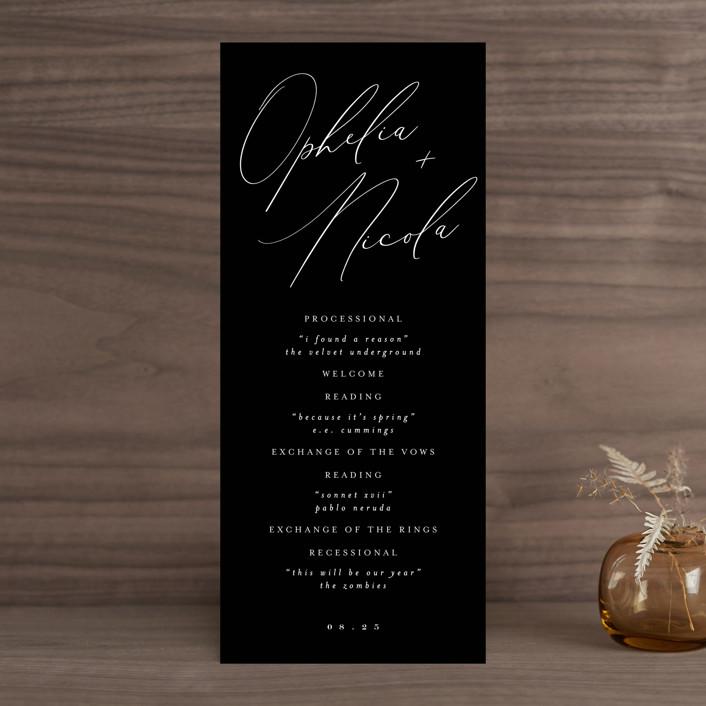"""""""Us"""" - Wedding Programs in Tuxedo by Leah Bisch."""