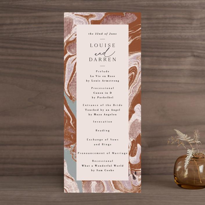 """""""Jasper"""" - Wedding Programs in Sandstone by Everett Paper Goods."""