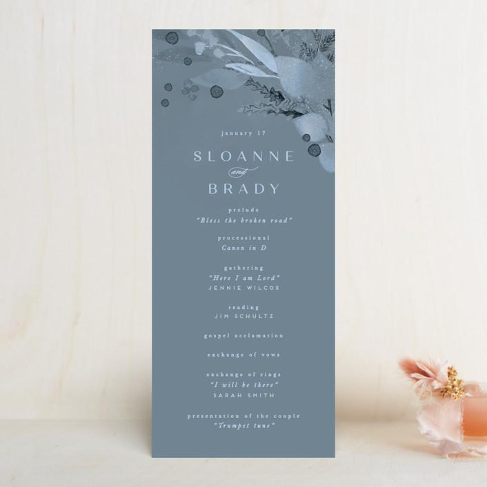 """Wonderful Tonight"" - Wedding Programs in Neptune by Creo Study."