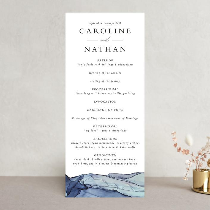 """""""Slate"""" - Wedding Programs in Blue Jasper by Erin Deegan."""