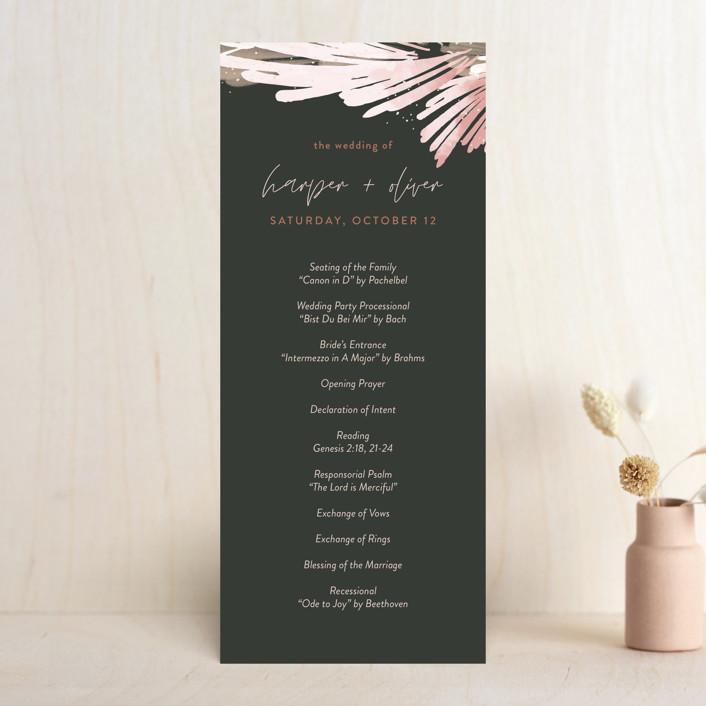 """lush romance"" - Bohemian Wedding Programs in Palm by Robin Ott."