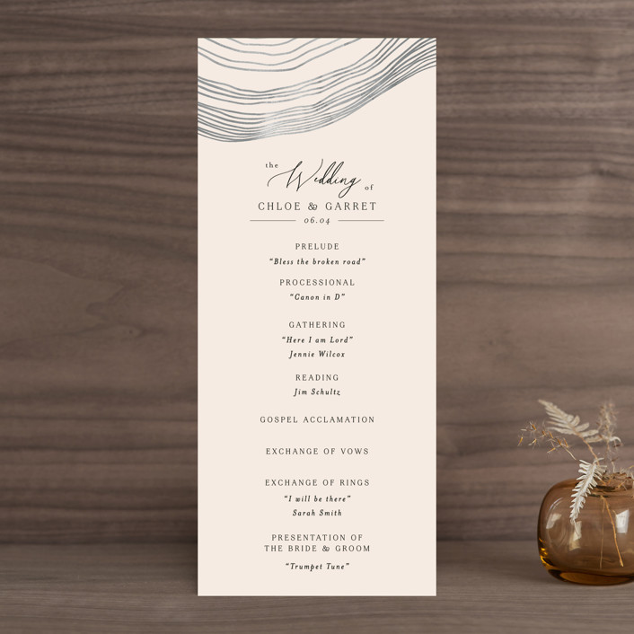 """""""Rings"""" - Modern Wedding Programs in Natural by Alethea and Ruth."""