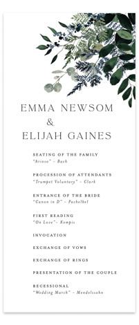 On and On Wedding Programs