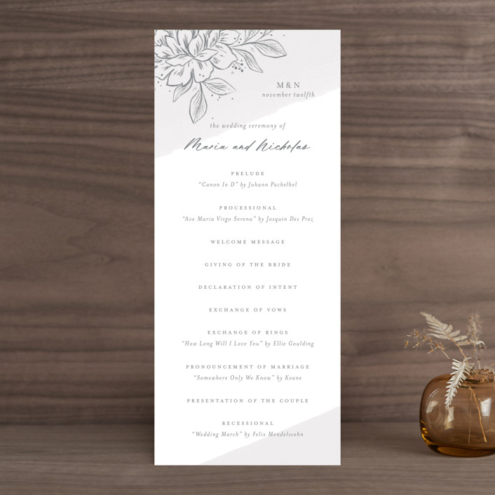 """""""Loving"""" - Wedding Programs in Cloudy by Paper Raven Co.."""