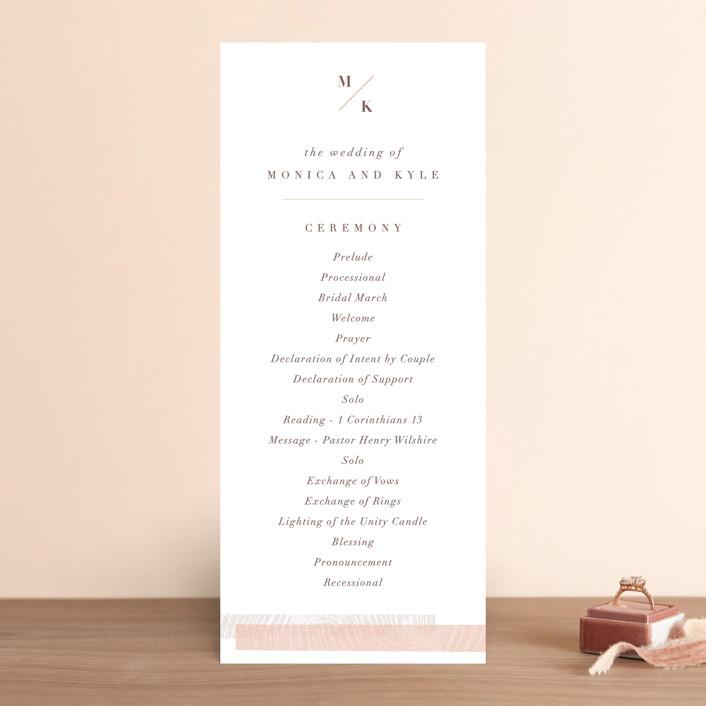 """engrained"" - Rustic Wedding Programs in Blossom by Robin Ott."