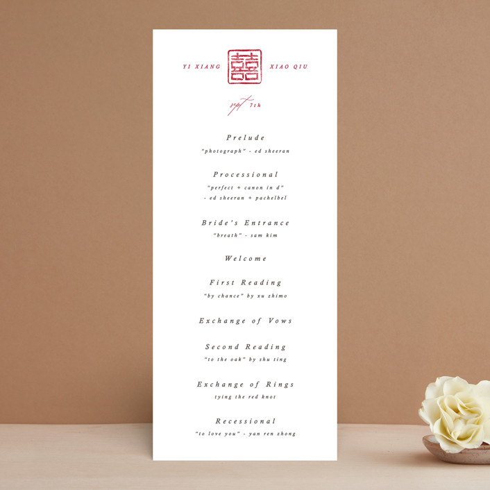 """Double Xi"" - Wedding Programs in Cherry by fatfatin."