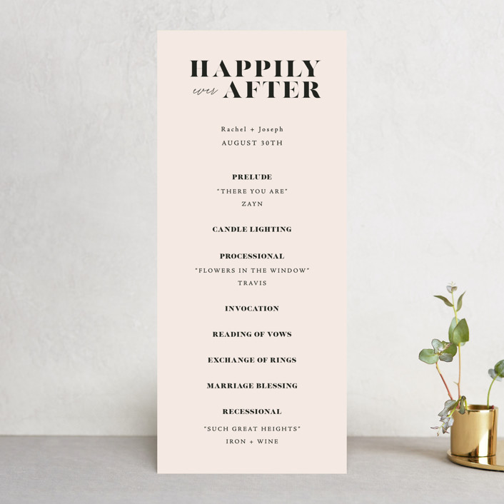 """""""Finally"""" - Funny Wedding Programs in Ivory by Up Up Creative."""
