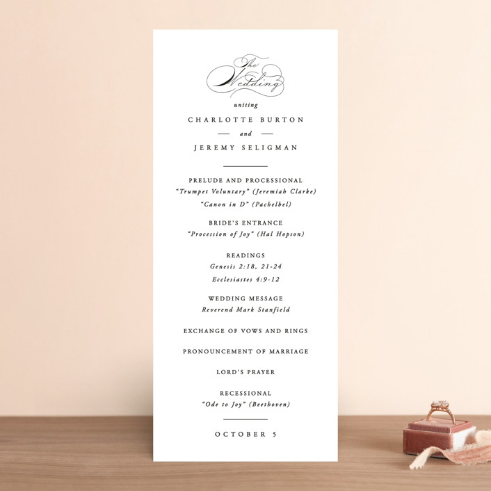 """""""Together With You"""" - Wedding Programs in Noir by Kimberly FitzSimons."""