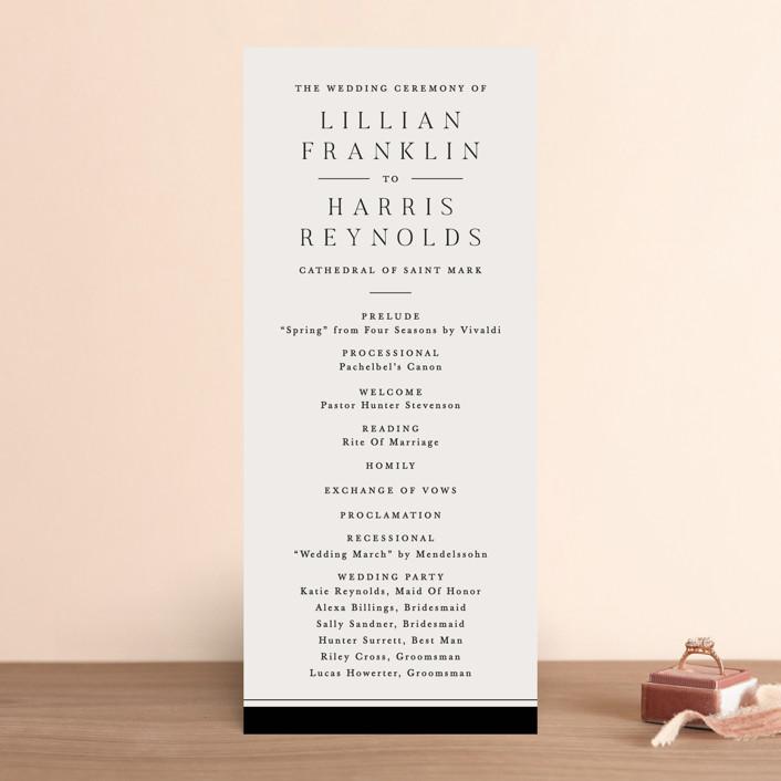 """""""Cambridge"""" - Wedding Programs in Tuxedo by Amy Kross."""