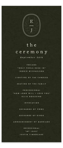 delicate seal Wedding Programs