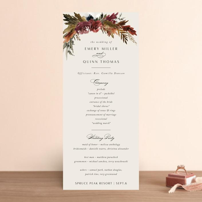 """poetique"" - Wedding Programs in Autumn by Kate Ahn."