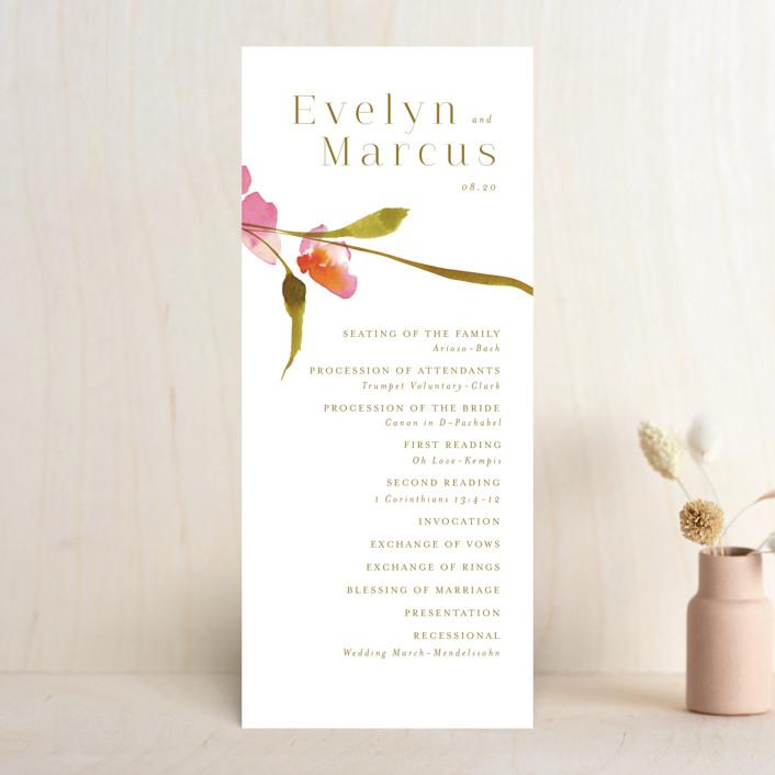 """colorwash floral"" - Wedding Programs in Blossom by Angela Marzuki."