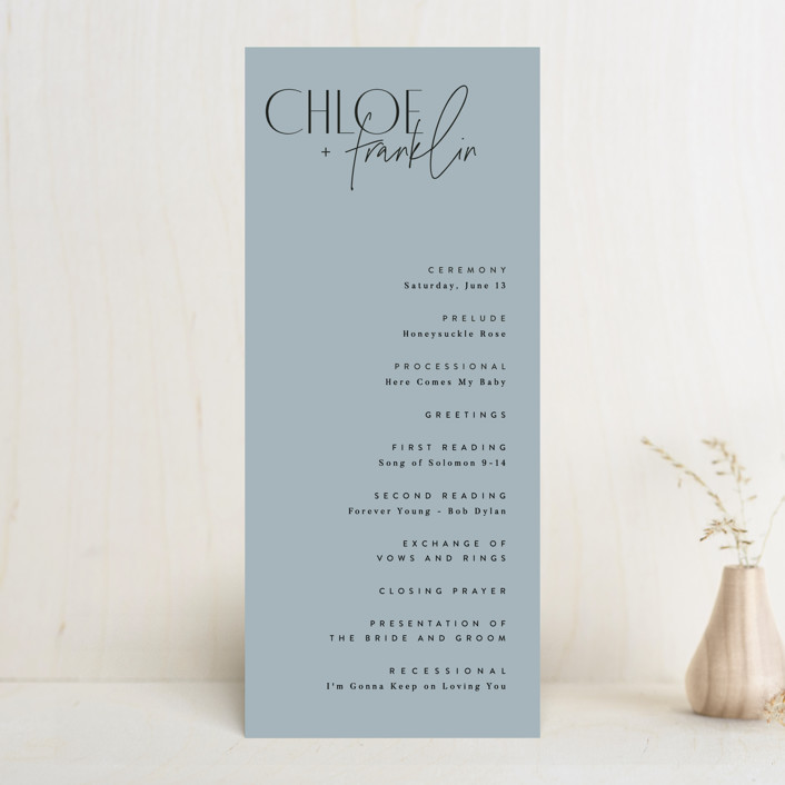 """Layered"" - Wedding Programs in Cloud by Kelly Schmidt."